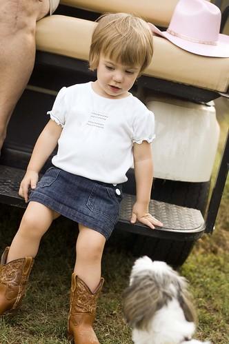 on the golf cart w/bess