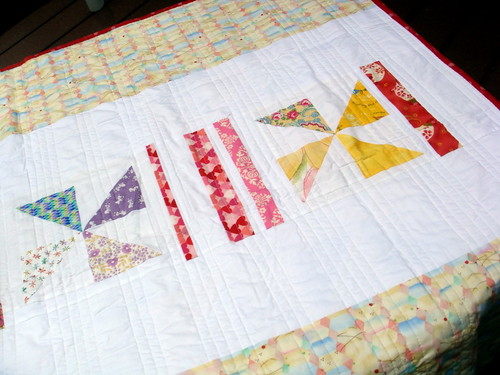 Another Pinwheel Quilt - Backside Detail