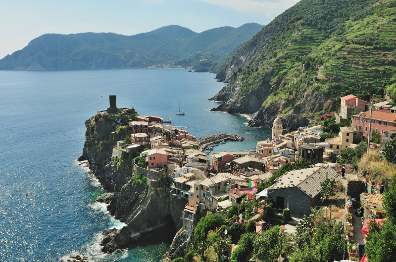 The View Once Reaching Vernazza