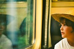 trains (júlía ∆) Tags: italy france milan film window hat rain train 50mm nice looking pentax brother tourist mx trenitalia f17 þórhallur