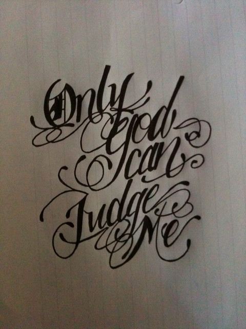 only god can judge me tattoo design