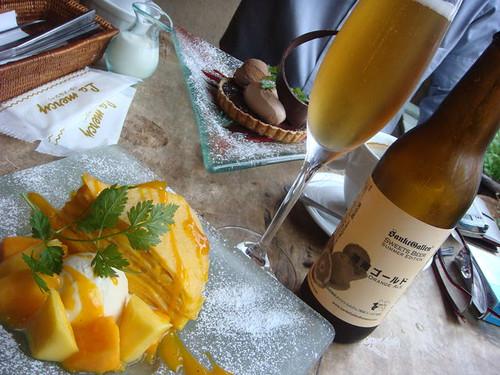 湘南ゴールドビール&マンゴーミルクレープ