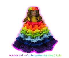 Regenbogen-Mädchen (haekelanleitungen) Tags: pdf amigurumi regenbogen anleitung mädche mustern häkelanleitung