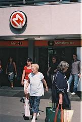 Moskva Ter (-Alec-) Tags: people station hungary 2000 fuji metro superia budapest 400 vivitar moskva ter xtra