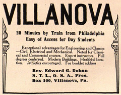 Advertisement for Villanova.