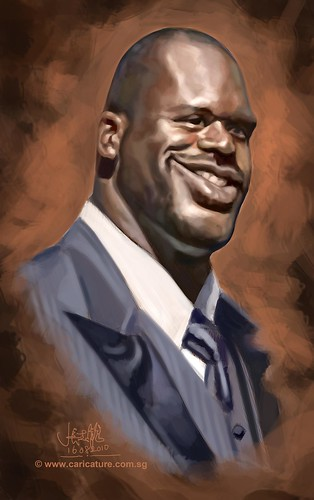 Schoolism Assignment 2 - digital caricature of Shaquille O'neill
