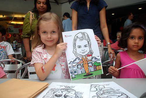 Caricature live sketching for The British Club and Singtel -7