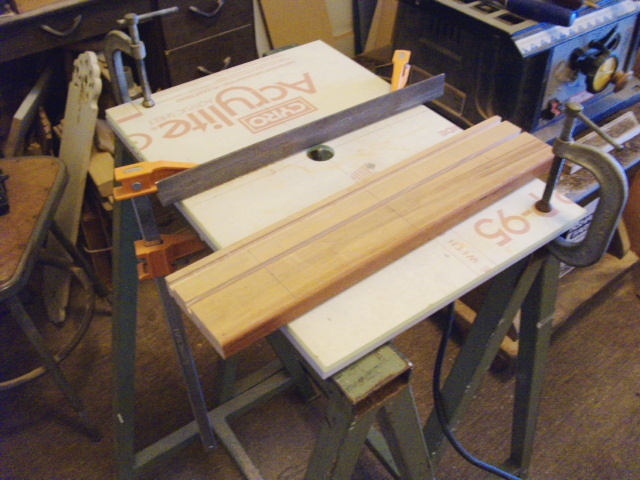 "New ""Router Table"" showing Steel Saw Horses"