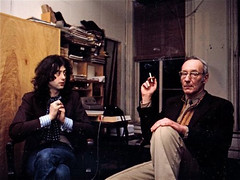 Jimmy Page & William Burroughs NYC 1975 (bp fallon) Tags: elvis violin fiddle rocknroll jimihendrix jimmypage burnejones williamburroughs jimmypagewilliamburroughs