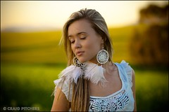 Calming... (Craig Pitchers) Tags: portrait cute girl earings photoshop southafrica model nikon pretty dof bokeh farm sigma stunning canola durbanville 105mm d90 sigma105mmf28 cs5 nikond90