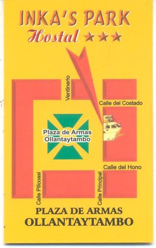 ollantaytambo hotel inka's park achter