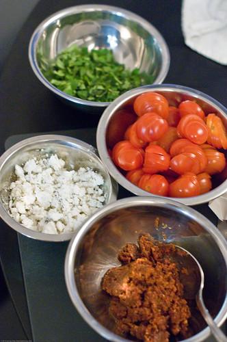 Making Tomato Galette