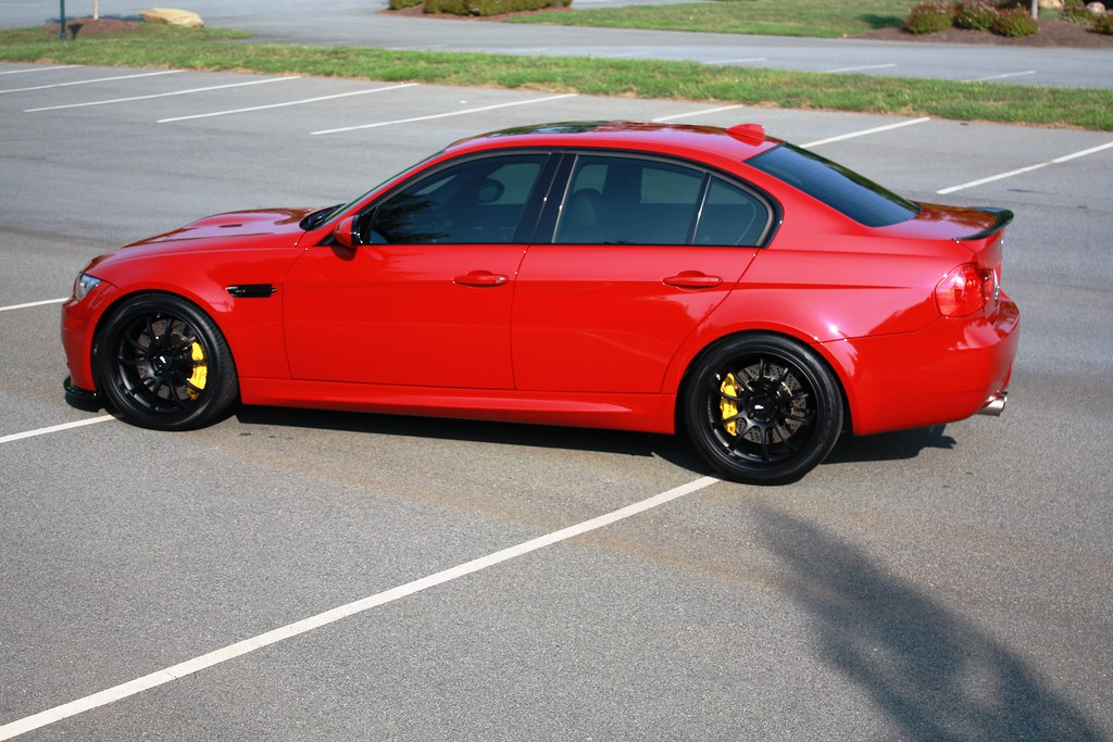 Nicely Modded Melbourne Red E90 M3 Advan Rz Df