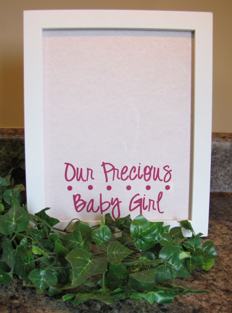 Our Precious Baby Girl/Boy Home Decor White Table Top Frame