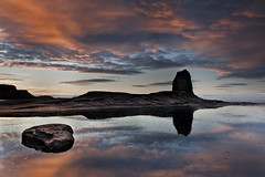 Black nap sunset (Reed Ingram Weir) Tags: sunset seascape black rock landscape nikon nap glow near submarine whitby stealth 24mm slate northyorkshire rockscape saltwickbay fineartprints skyreflections d700 reedingramweirriwp