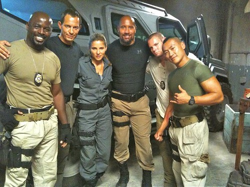 fast five cast. Fast Five Cast on Set - Puerto