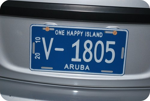 Happy Island License Plates