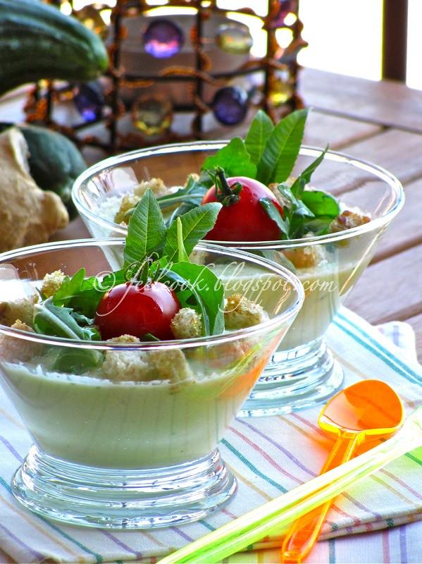 Zuppetta fredda di cetrioli e zenzero