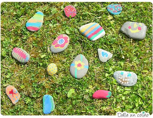 pintando pedras / painting stones