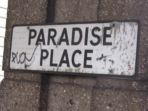 Paradise Place - road sign