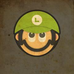 Todos Personagens de Mario Bros Cartoonizado Luigi