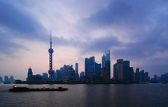 Shanghai - Pudong Skyline at Dawn (cnmark) Tags: world china city light sky tower skyline clouds sunrise river geotagged dawn hotel boat moving amazing ship cityscape shanghai famous jin scenic center shangrila aurora convention mao pearl   oriental orient pudong grattacielo financial  barge huangpu wolkenkratzer   lujiazui rascacielo gratteciel swfc   arranhacu  allrightsreserved   superaplus aplusphoto  pearloftheorienttower tripleniceshot mygearandmepremium mygearandmebronze mygearandmesilver mygearandmegold mygearandmeplatinum  geo:lon=121486538 geo:lat=31238071