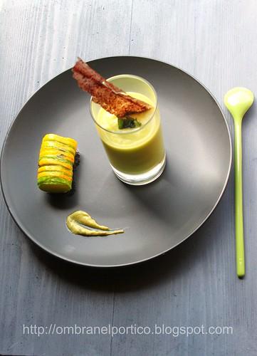Crema di zucchine e mostarda al dragoncello