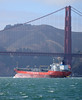Bound for the open ocean, M/S Ginga Saker heads west beneath the Golden Gate Bridge, San Francisco Bay, California, August 21, 2010 (Ivan S. Abrams) Tags: ivansabrams abramsandmcdanielinternationallawandeconomicdiplomacy ivansabramsarizonaattorney ivansabramsbauniversityofpittsburghjduniversityofpittsburghllmuniversityofarizonainternationallawyer