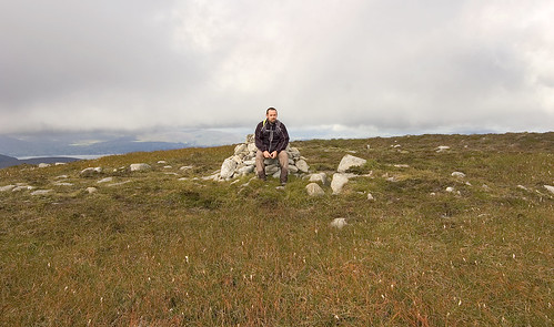 At the summit cairn on Shanlieve
