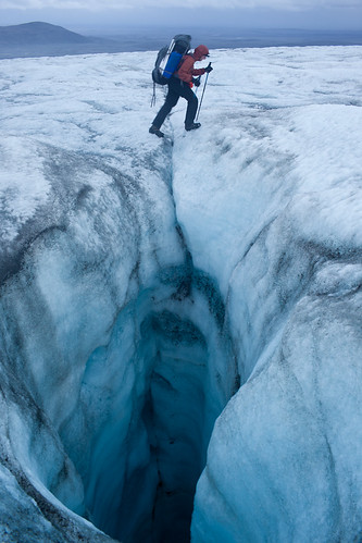Crossing the Hofsjkull glacier, Iceland