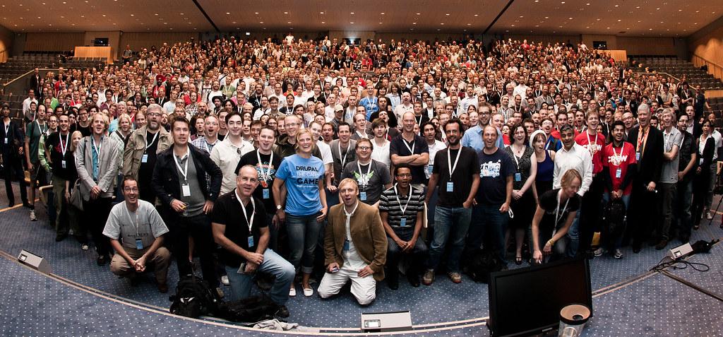 Alla deltagare under drupalcon köpenhamn