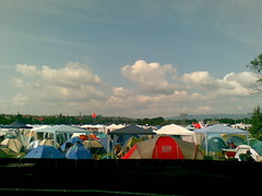 Blick auf den Zeltplatz
