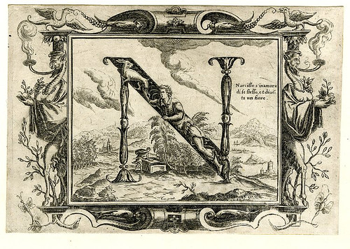 012-Letra N-Grotesque alphabet in mythological landscapes-© The Trustees of the British Museum