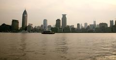 Pudong River Walk 6 (David OMalley) Tags: china city urban skyline architecture modern shanghai future   pudong hitech worldfinancialcenter futuristic jinmaotower orientalpearltower futurist  megacity    shanghaiworldfinancialcenter