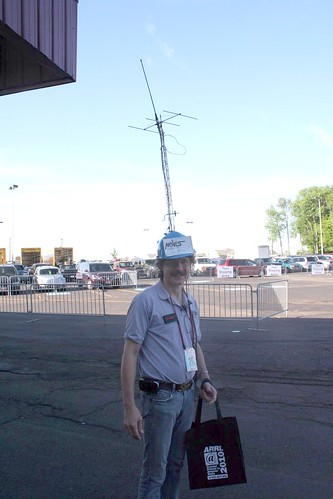 """Tower and antenna on hat • <a style=""""font-size:0.8em;"""" href=""""http://www.flickr.com/photos/10945956@N02/4925791992/"""" target=""""_blank"""">View on Flickr</a>"""