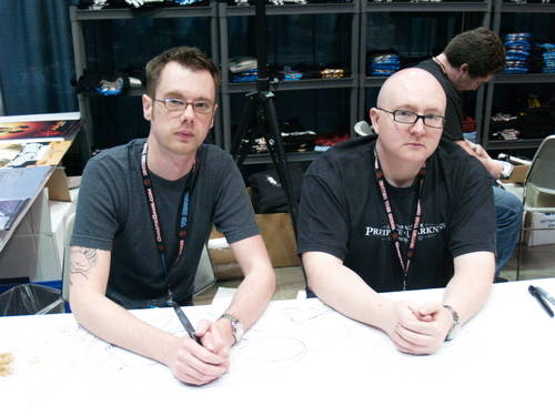 Mike Krahulik and Jerry Holkins, creators of Penny Arcade