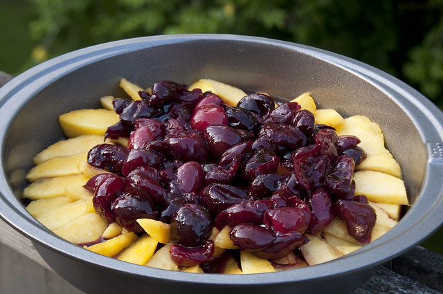 Cherries + Peaches = Summer's bountiful goodness