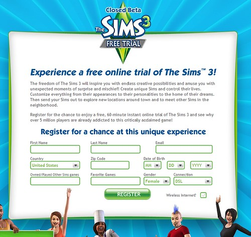 sims 3 for free online