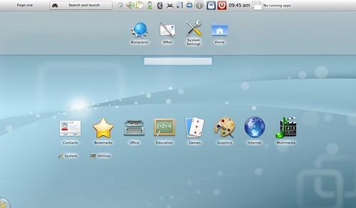 Kubuntu Netbook Desktop