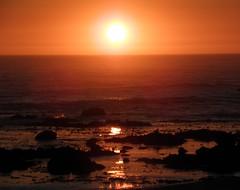 [フリー画像] 自然・風景, 夕日・夕焼け・日没, 海, ポルトガル, 201008280100