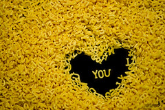 i heart you (achew *Bokehmon*) Tags: wallpaper food love yellow heart sony alphabet alpha a850