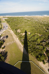 Shadow of Hatteras Lighthouse (hallograph(Jake Hall)) Tags: ocean sea lighthouse beach nc sand north hatteras carolina cape outer banks obx