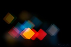 be square. (helen sotiriadis) Tags: blue red orange black yellow night canon square lights traffic bokeh shaped cyan athens greece custom canonef50mmf14usm canoneos40d dslrmag perfki