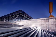 Neue Nationalgalerie (96dpi) Tags: longexposure roof detail berlin art museum architecture stair steel kunst treppe architektur van der dach mies neue kulturforum stahl rohe nationalgalerie corten ludwigmiesvanderrohe klassischemoderne
