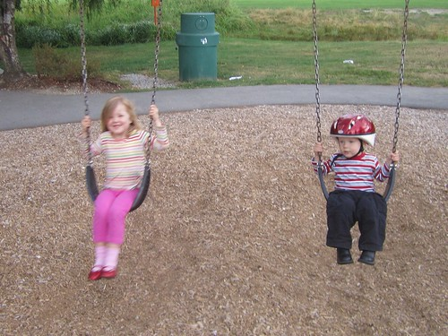 Swings are fun!