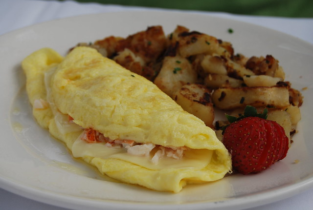 Shrimp and Lobster Omelet