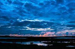 blue sky sunset (drbob97) Tags: blue sunset summer sky netherlands rain clouds canon landscape evening utrecht nederland wolken avond lucht drbob thegalaxy 40d drbob97