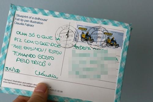 Postal recebido!