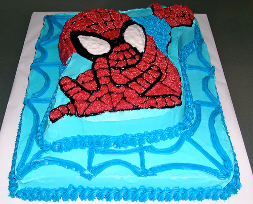 spiderman 3d cake. A Spiderman 3D Birthday cake.