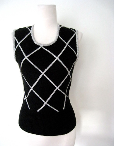 Silver Stripes Vest Top